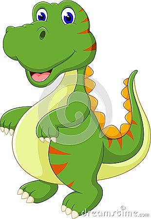 库存例证: 动画片逗人喜爱的恐龙图片