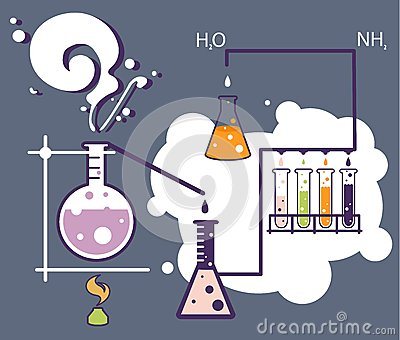 老科学和化学infographic实验室.图片