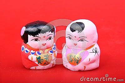 北京黏土小雕象