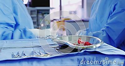 医院手术院手术外科手术的中段 股票视频