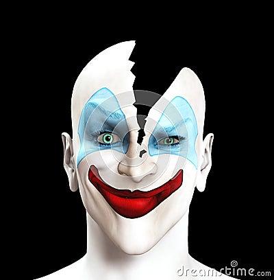 单独的小丑已分解
