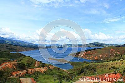 卡利本子_库存照片: 卡利马湖