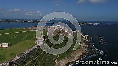 卡斯蒂略de圣克里斯托瓦尔在波多黎各海岛 股票录像