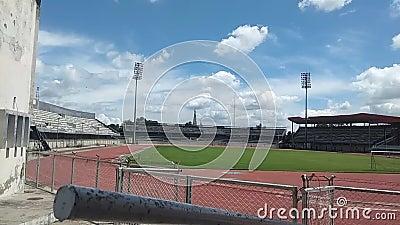 印度卢迪亚纳体育场景震动移动云层 影视素材