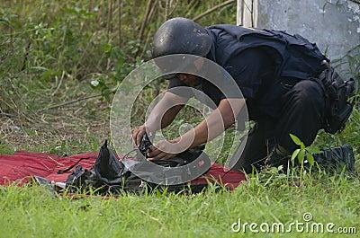 印度尼西亚拆弹小组 图库摄影片