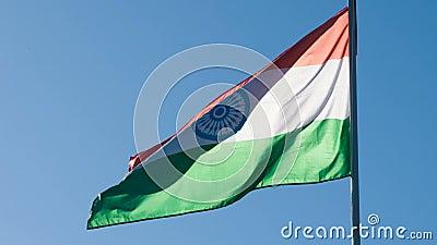 印度的状态旗子 股票视频
