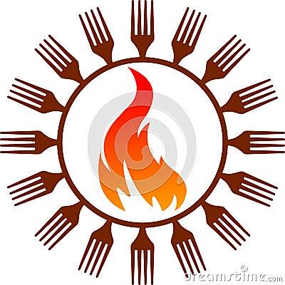 厨师热徽标