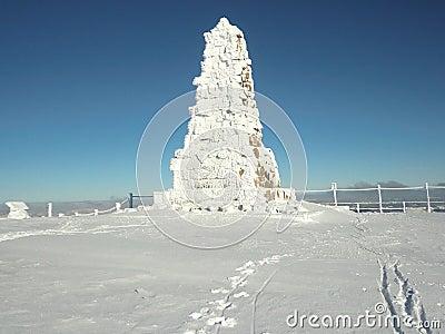 双标志felberg纪念品山顶