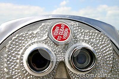 双筒望远镜硬币desoto被管理的佛罗里达堡垒