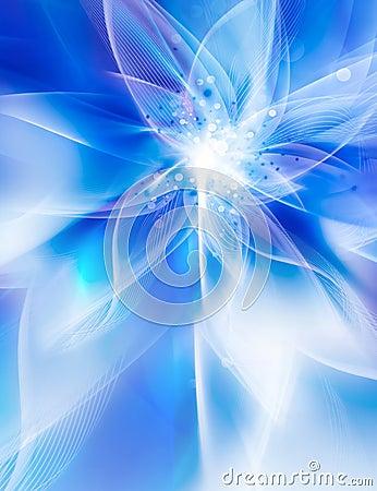 库存例证: 发光的蓝色花