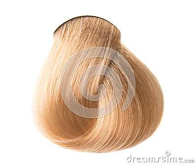头发颜色锁在被隔绝的白色背景的.图片