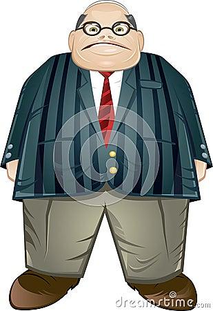 变老的生意人中间肥胖