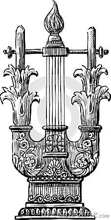古色古香的里拉琴图片
