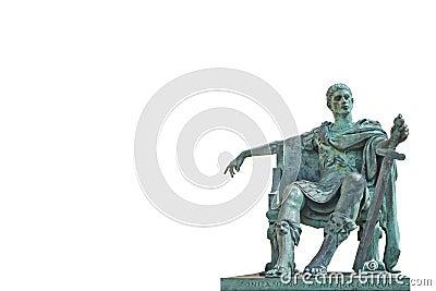 古铜色康斯坦丁雕象 编辑类库存图片