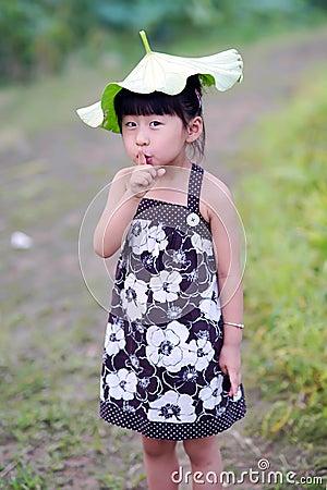 可爱中国的女孩 库存图片