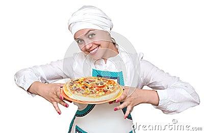 可爱的厨师