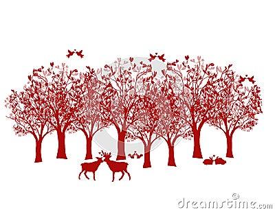 可爱的森林