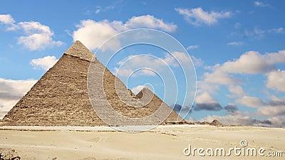 吉萨棉极大的金字塔 开罗 埃及 时间间隔 股票录像
