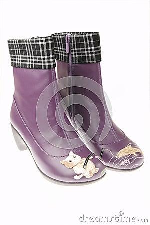 启动紫色妇女