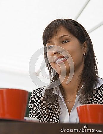 咖啡她的会议