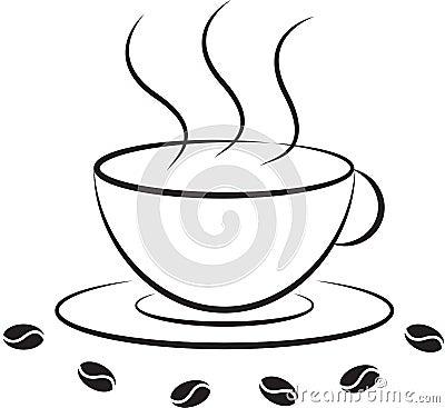 向量例证: 咖啡杯象图片