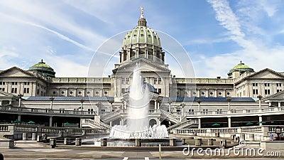 哈里斯堡宾夕法尼亚状态国会大厦大厦 股票视频