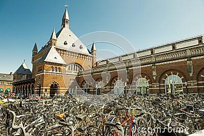 哥本哈根自行车 编辑类库存照片