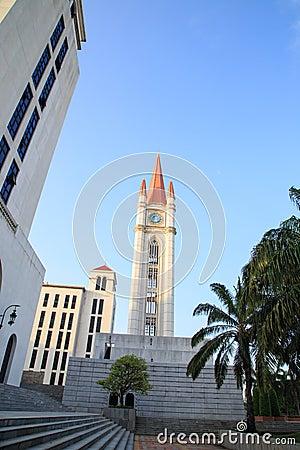 哥特式样式钟楼图片