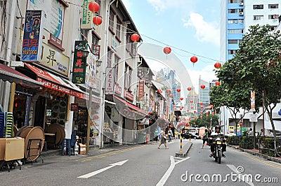 唐人街新加坡 编辑类库存图片