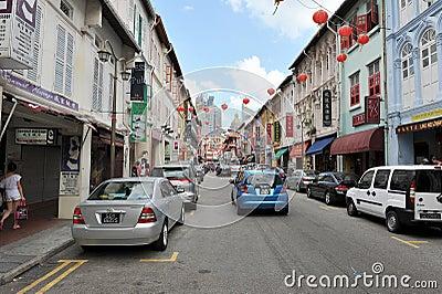 唐人街新加坡 图库摄影片