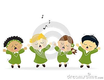 唱诗班唱歌称赞