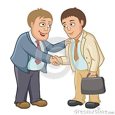 商人握手作为合作的标志图片