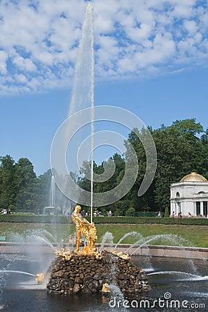 喷泉pertergof彼得斯堡圣徒samson