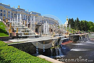 喷泉petergof彼得斯堡圣徒