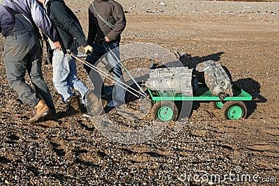 回收海难 编辑类库存图片
