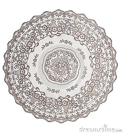 圆桌的桌布