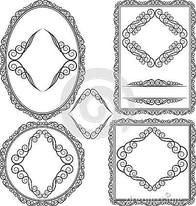 圆的框架卵形长方形正方形