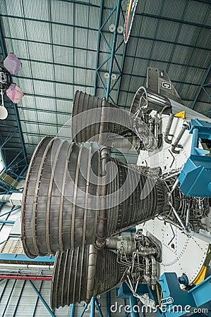 土星V型发动机 编辑类库存图片