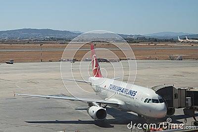 土耳其的航空公司 编辑类照片