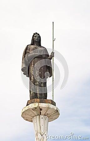 圣徒Rosalia雕象在巴勒莫