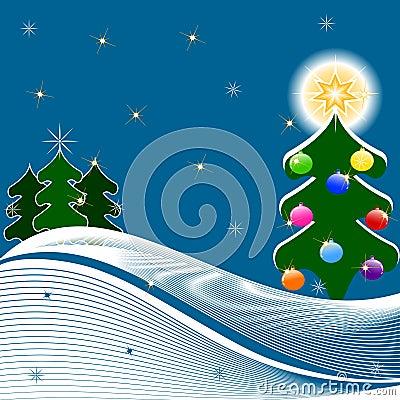 圣诞节例证结构树向量