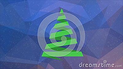 圣诞节我的投资组合结构树向量版本 股票视频