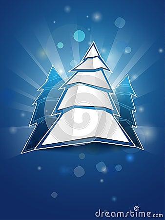 圣诞节被折叠的纸结构树