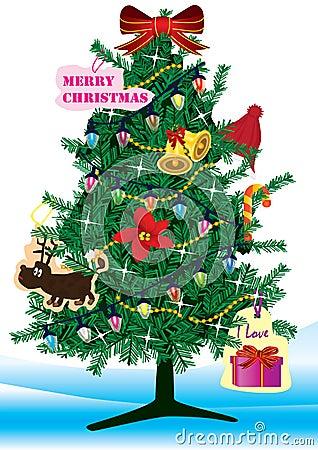 圣诞节eps结构树