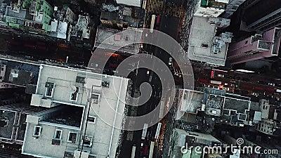 在九龙,香港的寄生虫飞行 影视素材