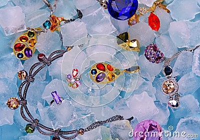 在冰的珠宝
