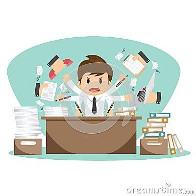 在办公室工作者传染媒介例证的商人 向量例证 - 图片:图片