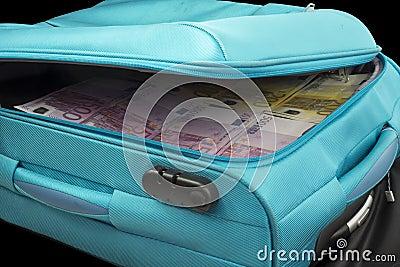 在台车的欧元