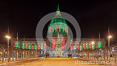 在圣诞节期间的旧金山