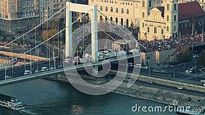 在城市事件的大人群 影视素材